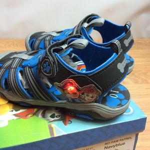 Nickelodeon Paw Patrol With Lights Sandals Sz 10M